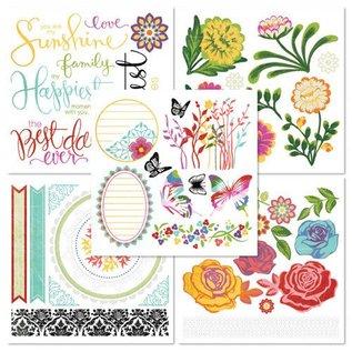 Embellishments / Verzierungen Rub On Book with 5 sheets