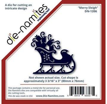 Die-namics Coupe et gaufrage pochoirs traîneau de Noël avec des cadeaux