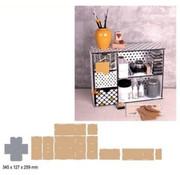 Crealies und CraftEmotions MDF 3D Sortiermodul