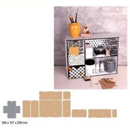Crealies und CraftEmotions Modulo di smistamento MDF 3D