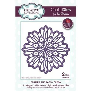 CREATIVE EXPRESSIONS und COUTURE CREATIONS Punching template: Round frame motif