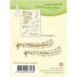Leane Creatief - Lea'bilities und By Lene Transparant stempel: Muzikale aantekening
