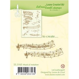 Leane Creatief - Lea'bilities und By Lene Transparent stamp: Musical notation