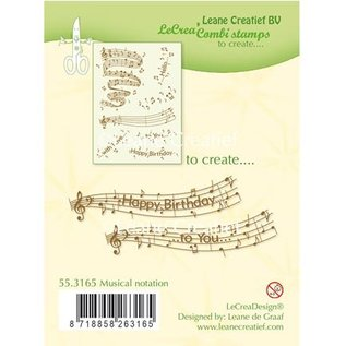 Leane Creatief - Lea'bilities und By Lene Transparent Stempel: Musical notation
