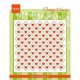 Marianne Design Embossing folder: Sweethearts, hearts