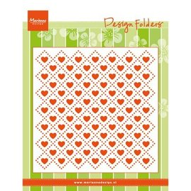 Marianne Design Embossing folders: Sweethearts, heart