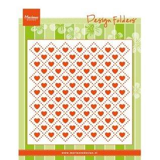 Marianne Design Embossing folder: Sweethearts, harten