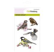 Crealies und CraftEmotions I timbri trasparenti: Birds