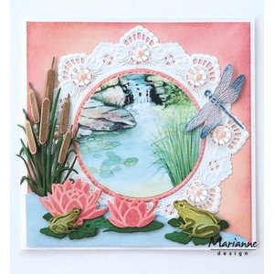 Marianne Design Punching template: Tiny's waterlily