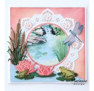 Marianne Design Stanzschablone: Tiny's waterlily