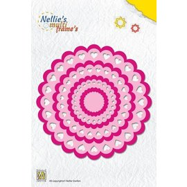Nellie Snellen Punching template: Rosette heart