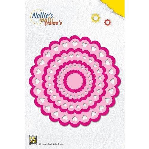 Nellie Snellen modèle de poinçonnage: coeur Rosette