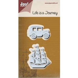 Joy!Crafts / Jeanine´s Art, Hobby Solutions Dies /  Stansmessen: Journey - zeilboot & oldtimer