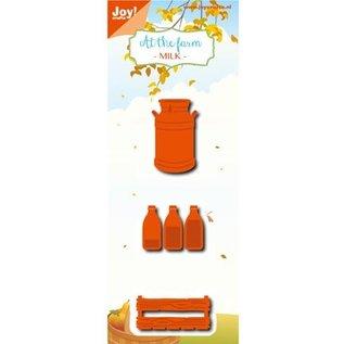 Joy!Crafts / Jeanine´s Art, Hobby Solutions Dies /  Stansmessen: Melk fles, doos, melkkan