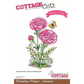 Cottage Cutz NEU Stanzschablone + Stempel: Flower