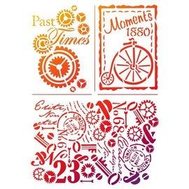 "Dutch DooBaDoo Universal Schablone ""Past Times"""