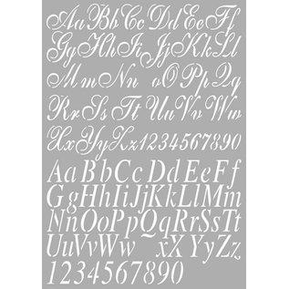 Dutch DooBaDoo Universal-Schablone Buchstaben A4