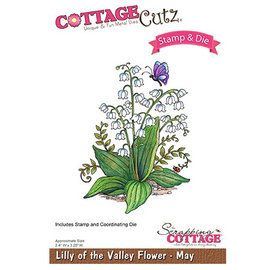 Cottage Cutz NUEVO estampado el sello de la plantilla +: Flor