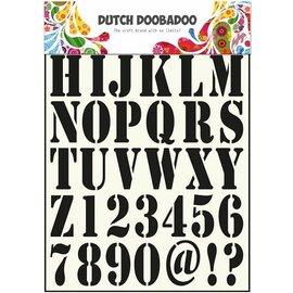 Dutch DooBaDoo las letras y números de plantillas universales