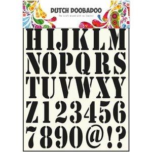 Dutch DooBaDoo des modèles de lettres universelles et chiffres