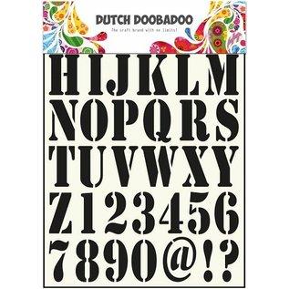 Dutch DooBaDoo Universal Template letters en cijfers