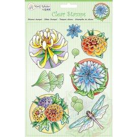Stempel / Stamp: Transparent Transparante stempels: bloemen en libel