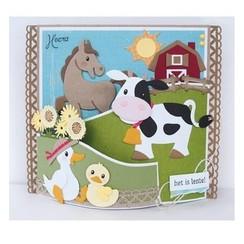 plantilla de corte y estampado: vaca de Eline