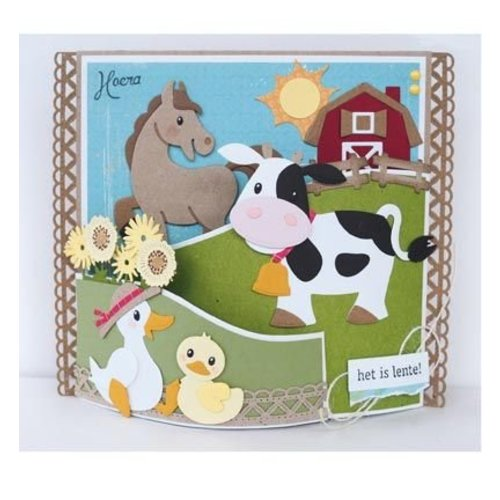 Marianne Design cutting and embossing template: Eline's cow
