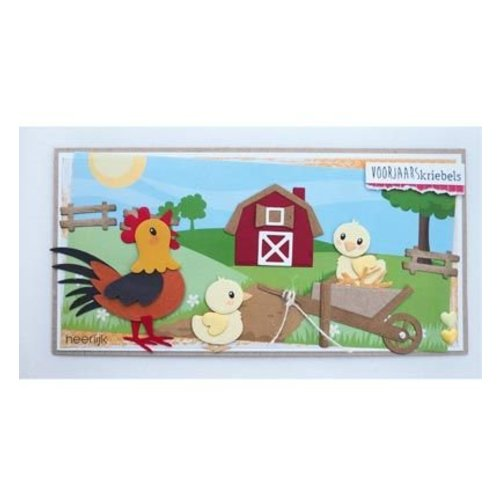 Marianne Design Stamping template: Eline's farm set