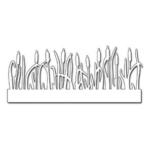 Penny Black Punching template: Border grass