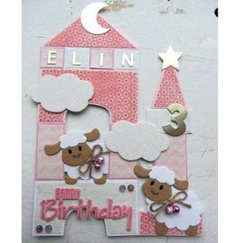 Marianne Design Cutting and embossing template Collectables - Eline's sheep