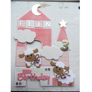 Marianne Design Snij en embossing Sjabloon, Collectibles - Eline's schapen
