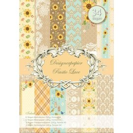 REDDY Designerpapierset, Rustic Lace, 34 Blatt!