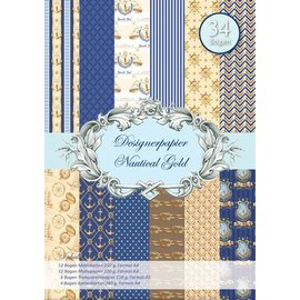 REDDY Designerpapierset, Maritim, Nautical Gold