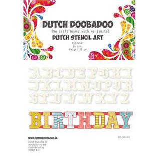 Dutch DooBaDoo Stencil Art Alphabet AZ