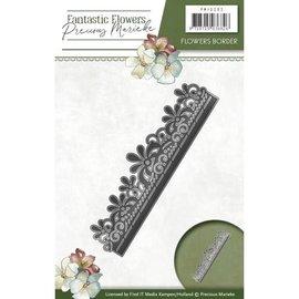 Precious Marieke Stamping template: floral border