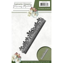 Precious Marieke Stempling sjablong: blomsterbord
