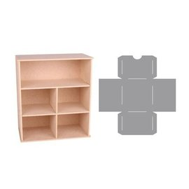 Holz, MDF, Pappe, Objekten zum Dekorieren Storage doos met vakken en laden template