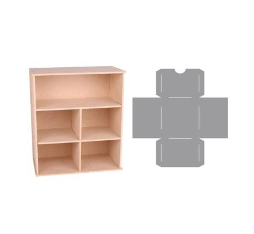 Storage box with compartments and drawers template