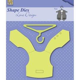 Nellie Snellen Stamping template: Veste + Kleiderbugel
