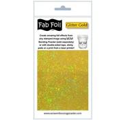 BASTELZUBEHÖR, WERKZEUG UND AUFBEWAHRUNG Glitter film métallique d'or