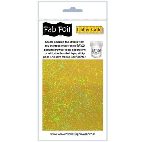 BASTELZUBEHÖR, WERKZEUG UND AUFBEWAHRUNG Glitter gold metallic film