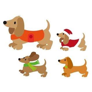 Marianne Design Ponsen en embossing stencil, hond
