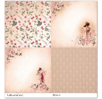 """LaBlanche Lablanche Papers """"Roses"""" 6 - Copy"""