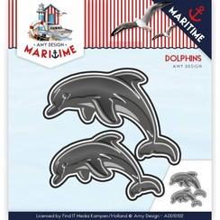 AMY DESIGN, Gabarit d'estampage: Dolfinen