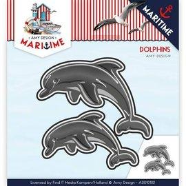 AMY DESIGN AMY DESIGN, stempling skabelon: Dolfinen