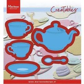 Marianne Design plantilla de corte y estampado: té para ti