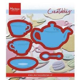 Marianne Design skjære og prege mal: Tea for deg