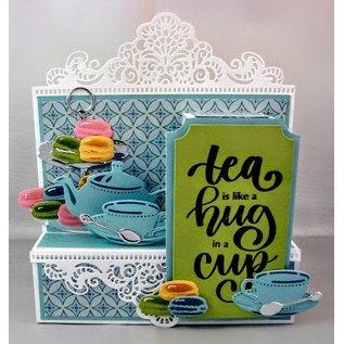 Marianne Design Snij en embossing mall: Tea voor u