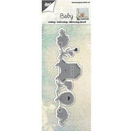 Joy!Crafts / Jeanine´s Art, Hobby Solutions Dies /  Ponssjablonen: snijden, embossing en debossing, babythema